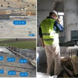 Acoustic Emission motioning of cracks in reinforced concrete structures