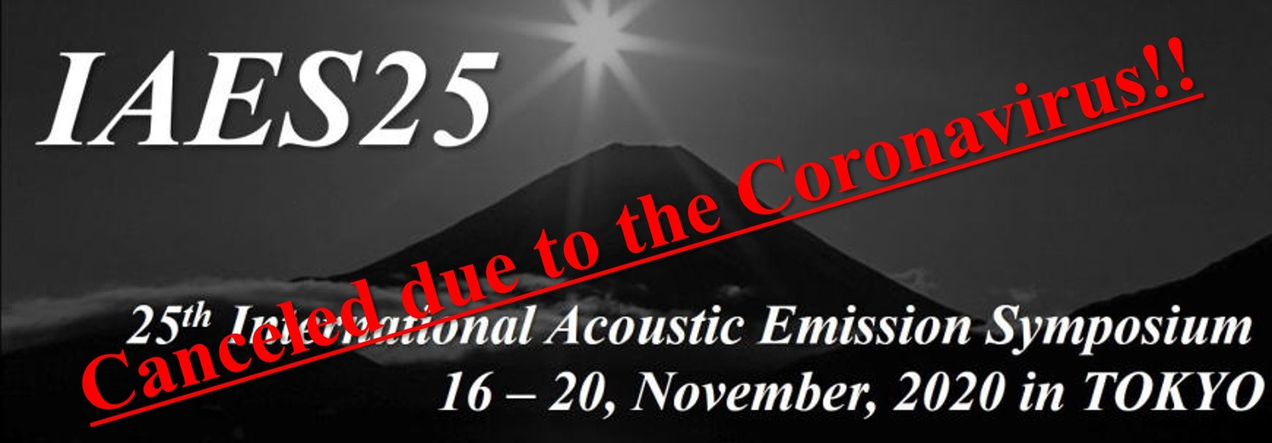 IAES25 – 25th International Acoustic Emission Symposium November 16-20, 2020 – Canceled
